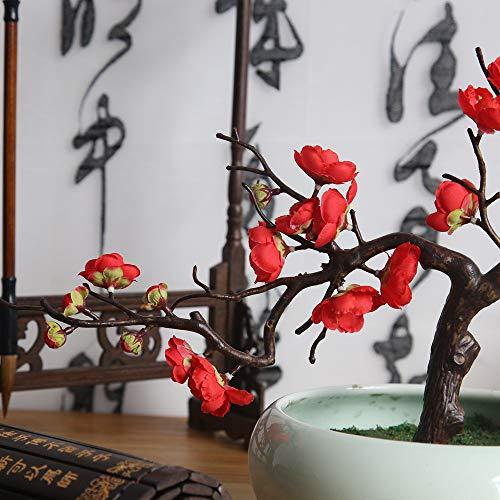 (Artificial Silk Fake Flowers Plum Blossom Floral Wedding Bouquet Party Decor RD)