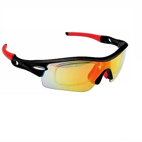 4b388245085 RIVBOS 801 Polarized Sports Sunglasses Sun Glasses with 5 Interchangeable Lenses  for Men Women Baseball Cycling ...