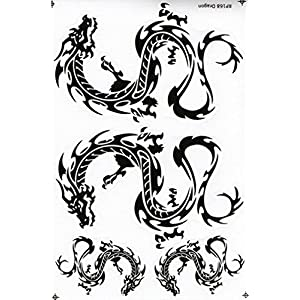 """5 Sheets"" Chinese Dragon Sticker Car Racing Motorcross Decal Motorcycle Truck Graphic Logo Bicycle Bike Stickers"