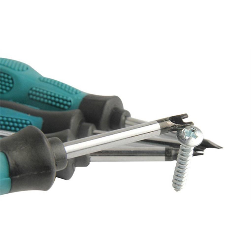 F-blue 4PCS//Set Screwdriver Set Screwdriver Bits U Fork Type Screwdriver Set Magnetic Slotted Screw Driver CR-V Multi Function Hand Tool Kit