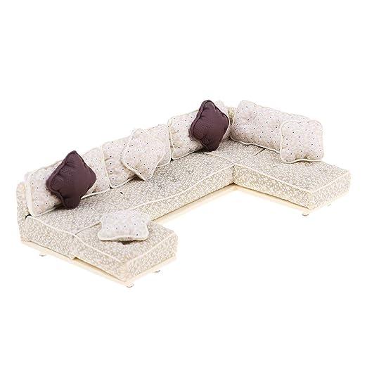 1:25 Mini Simulation Sofakissen Modell Set für Sand Tisch Zubehör Khaki