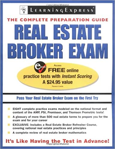 Real Estate Broker Exam (Real Estate Exam Prep And Career Guides)