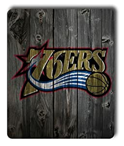 Philadelphia 76ers Wood Rectangle Mouse Pad by eeMuse