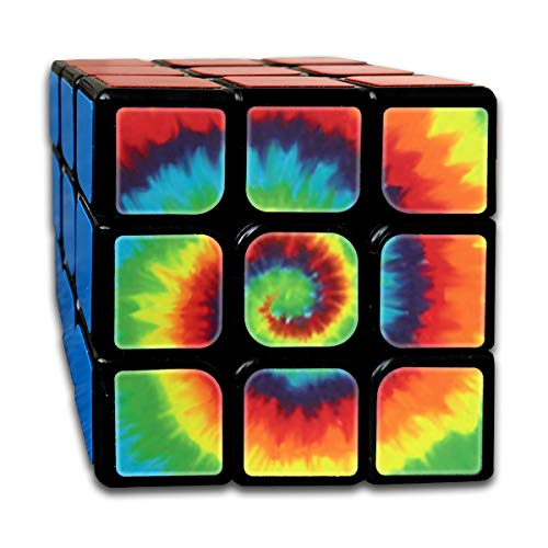 Partrest Yellow Red Rainbow Rubik Cube Super-Durable with Vivid Colors 5.5x5.5 Cube Easy Turning and Smooth Play Magic Cube Puzzle -