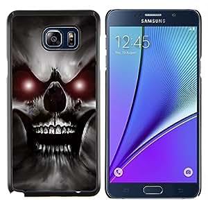 "Be-Star Único Patrón Plástico Duro Fundas Cover Cubre Hard Case Cover Para Samsung Galaxy Note5 / N920 ( Skull Red Eyes Devil Evil Villain Monster"" )"