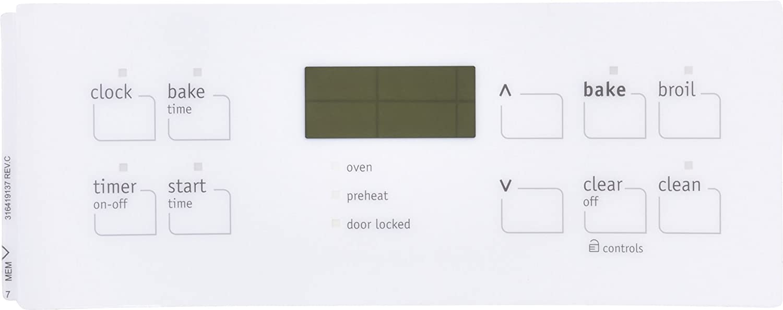 Electrolux 316419137 Frigidaire Overlay Clock