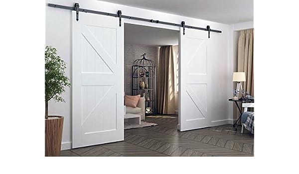 aihom 3.66 M doble francés puerta corredera puerta de granero ...