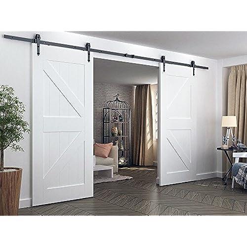 interior barn door track. Diyhd 10ft Arrow Style Double Sliding Barn Door Hardware Bi-parting Track System Interior O