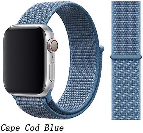 JWJY ユニバーサル・ウォッチバンド44ミリメートル40ミリメートル42ミリメートル38ミリメートルのナイロンブレスレット時計バンド44/42 (Band Color : Cape Cod Blue, Band Width : 38mm or 40mm)