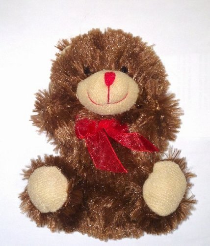 (Greenbrier Chocolate-Scented Teddy Bear with Red Bow - 7 inches Tall (Cocoa Cutie))