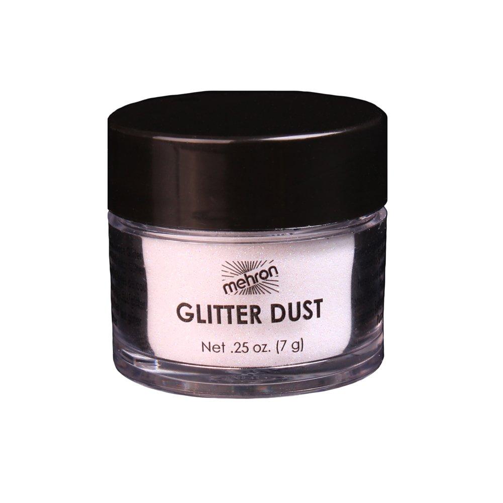 Mehron Makeup GlitterDust (.25 oz) (Opalescent White)