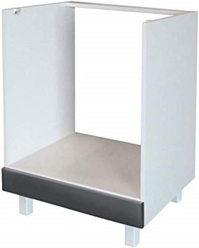 Berlenus CF6BG - Mueble bajo de Cocina para el Horno (60 cm), Color Gris Brillante
