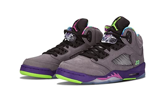 788f705ec598 ... size 9.5 men where to buy nike mens air jordan 5 retro quotbel airquot  cool grey suede basketball 3dbe8 discount code ...