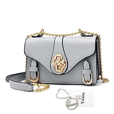 Amazon.com: yoome Retro bolsa de cadena de revestimiento ...