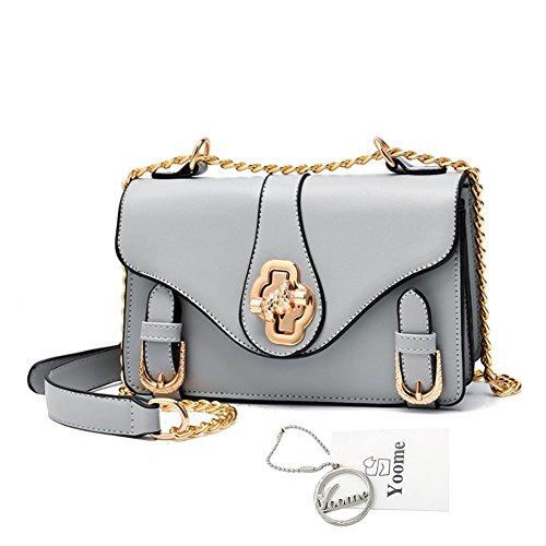 Yoome bolso de cadena de múltiples capas retro bolso de mensajero para mujer bolsos pequeños para las niñas Vintage bolsos para los adolescentes