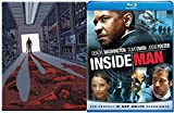 The Equalizer Steelbook Blu Ray & The Inside Man Blu Ray + DVD 2 Pack Denzel Washington Double Feature Bundle Action Movie Set