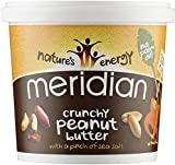 Meridian Natural Crunch Peanut Butter with Pinch of Salt 1000g (Pack of 2)