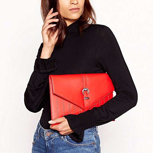'Penelope' Clutch Red Envelope Studded Womens Studded Red Faith Bag Faith Womens CzwxwqF0U