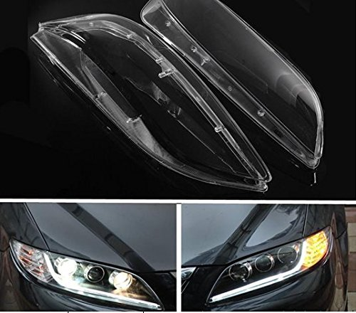 Left & Right Front Headlamp PC Cover For Mazda 6 2003- -