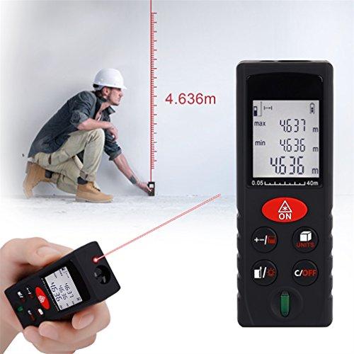 leshp handheld laser distance meter digital measure laser range finder 40m rangefinder. Black Bedroom Furniture Sets. Home Design Ideas