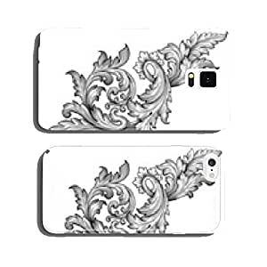 Vintage baroque frame scroll ornament vector cell phone cover case Samsung S5