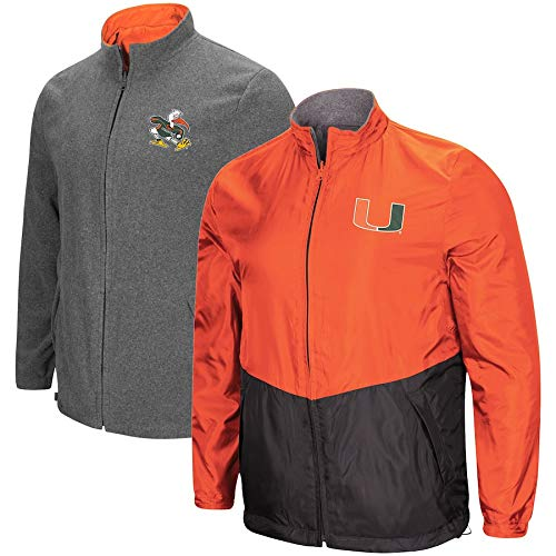 (Colosseum Miami Hurricanes Halfback Reversible Polar Fleece/Rain Jacket (2XL))