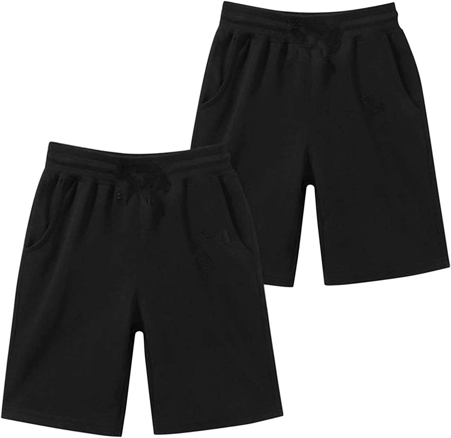 Evelin LEE Little Boys Girls Sports Cotton Stretch Solid Chino Shorts Knee Length
