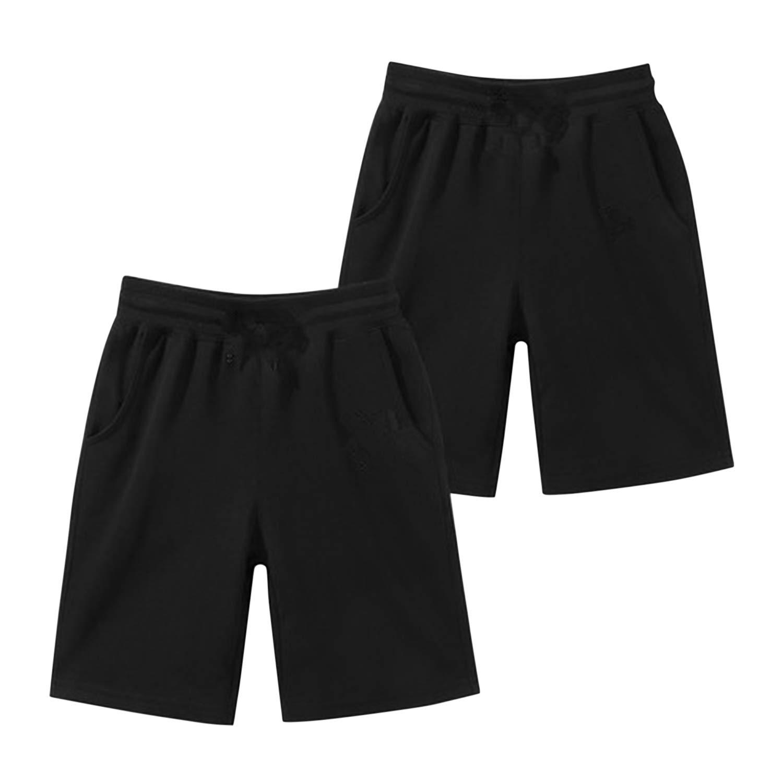 De feuilles Boys Summer Active Short Pants Solid Color Elastic Waist Trouser