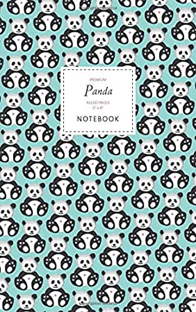 Ruled Pages Premium Taccuino Panda Notebook 5x8 White