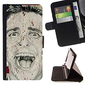 Momo Phone Case / Flip Funda de Cuero Case Cover - Presidente Hombre Psycho Latina bandera de Usa - Motorola Moto E ( 1st Generation )
