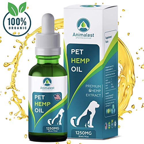- Hemp Oil for Dogs and Cats - 1250 MG - Relief Dog Cat Hemp Oil Calming Treats - Pets Anxiety Tension Hip Seizures Joint Pain Releaf Arthritis Sleep - Omega 3,6,9 Pet Vitamins - Vet Supplement 6in1