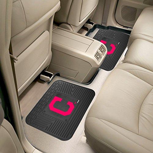 Fanmats 12330 MLB - Cleveland Indians Backseat Utility Mats 2 Pack (Cleveland Indians Mlb Floor Mats)
