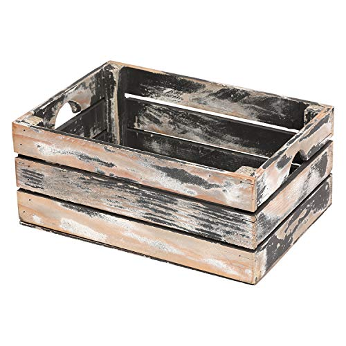 At Home On Main Handcrafted Rustic Crates - Small (Grey) ()