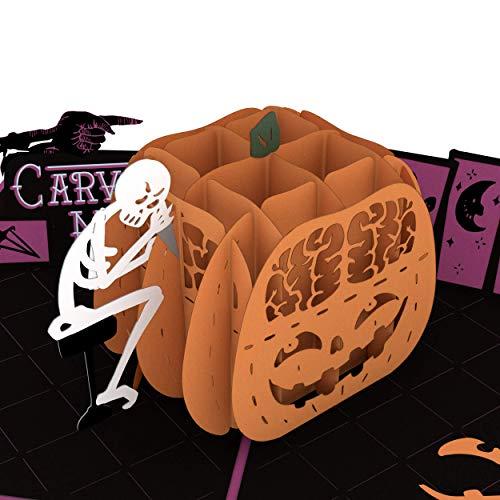 Lovepop Pumpkin Carving Madness Pop Up Card, 3D Card, Birthday Cards, Halloween Card, Halloween, Greeting Card, Pumpkin Card