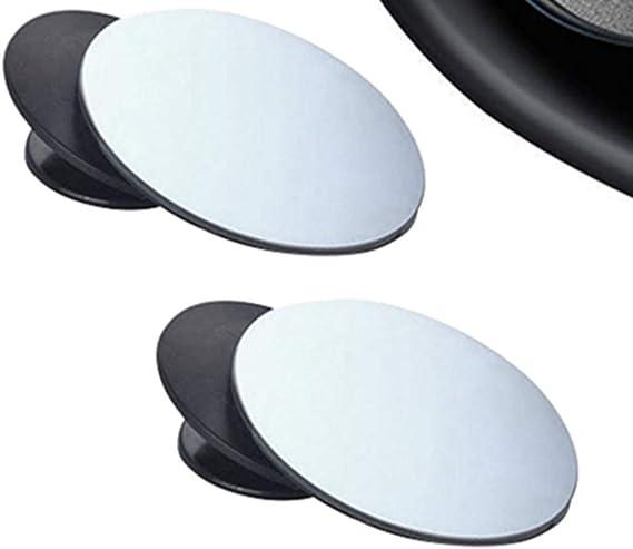 BUYGOO 2 Pcs R/étroviseurs Ext/érieur dangle Mort Ronde Auto R/étroviseurs Aveugle Miroir dangle Mort Grand R/églable Blind Spot Mirror