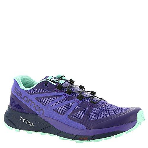 Salomon Women's Sense Ride Running Trail Shoes Parachute Purple/Purple Opulence/Beach Glass 10 by Salomon