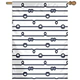 HUANGLING Ship Boat Sea Life Rope And Marine Nautical Knots As Border Lines Art Print Home Flag Garden Flag Demonstrations Flag Family Party Flag Match Flag 27''x37''