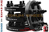 COMPLETE SET OF 5X100 TO 5X114.3 BLACK HUB CENTRIC WHEEL SPACERS ADAPTERS CONVERSION SCION FR-S SUBARU BRZ WRX 86 | 12X1.25 HUBCENTRIC 56.1 HUB BORE