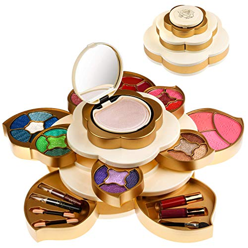 CoralBeau Luxurious Makeup Set for Women – Flower Shaped, Makeup Kit for Teen Girls – Adult Flower Makeup Kit