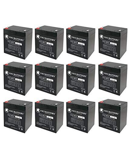 M1ez8 Control Elk - 12V 5AH SLA Battery Replacement for ELK M1EZ8 Control Kit - 12 Pack - VICI Battery Brand Product