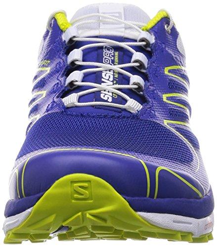 Salomon Sense Pro - Zapatillas para hombre G Blue/White/Gecko Green