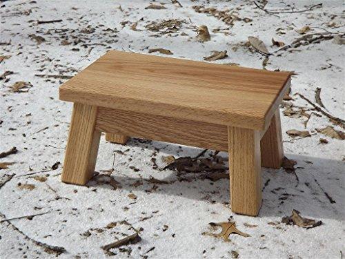 Oak step stool/ farmhouse/ foot stool/ modern/ wood step stool/ riser 8 - 10