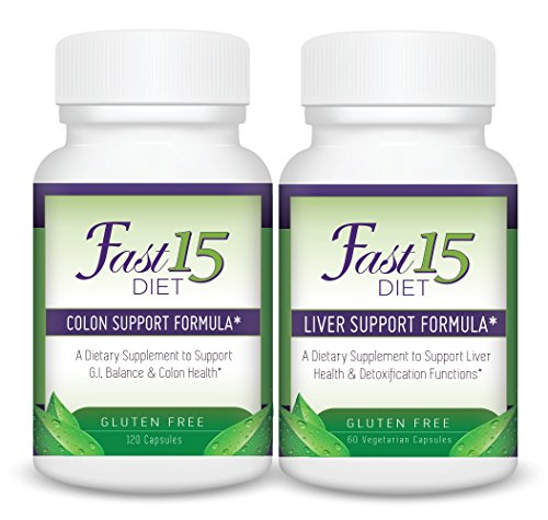 Fast 15 Diet Detoxification System - Liver and Colon Detox Formula Bundle Physician Formulated (highest purity & potency) Detoxification Program designed to help the body remove toxins!