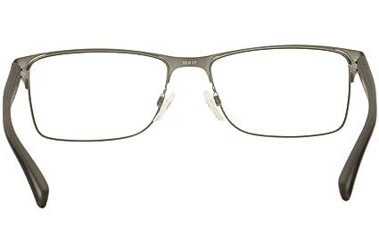 a3471fc73c75 Armani EA1052 Eyeglass Frames 3094-Black Rubber/matte Gunmetal at Amazon  Men's Clothing store:
