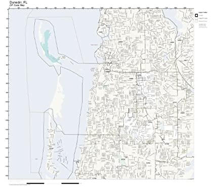 Map Of Dunedin Florida.Amazon Com Zip Code Wall Map Of Dunedin Fl Zip Code Map Not