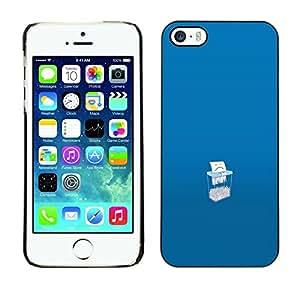 // PHONE CASE GIFT // Duro Estuche protector PC Cáscara Plástico Carcasa Funda Hard Protective Case for iPhone 5 / 5S / Save Paper /