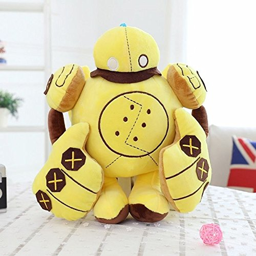 [60CM Big Plush League of Legends LOL BLITZCRANK Robot Soft Plush Toy Doll Pillow] (Enderman Costume Template)