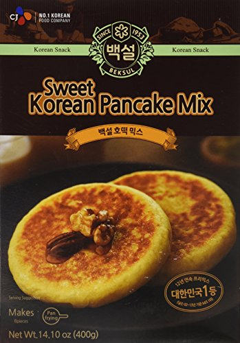 Korean Sweet Pancake Mix, Hotteok (14.10 oz) By Beksul (Original, 1 Pack)