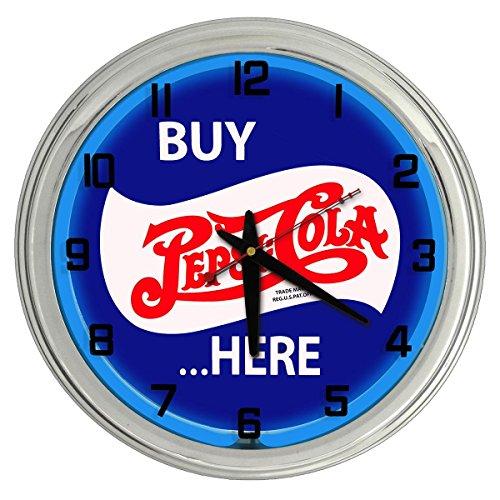 (Pepsi-Cola Blue Neon clock from Redeye Laserworks)