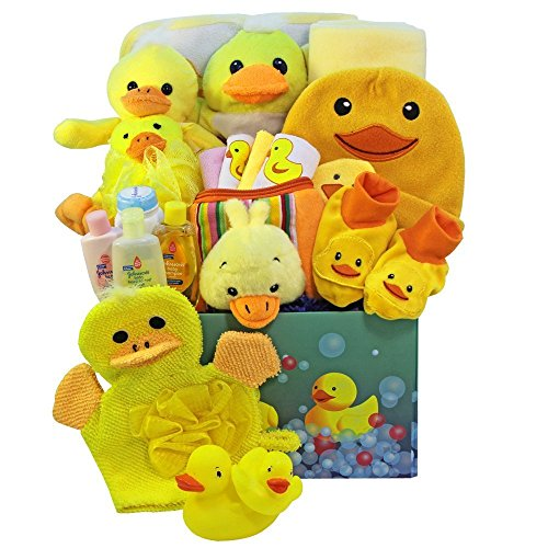 Splish Splash Bath Time Fun Care Package, Neutral Baby Boys or Girls (Holiday Washcloth)